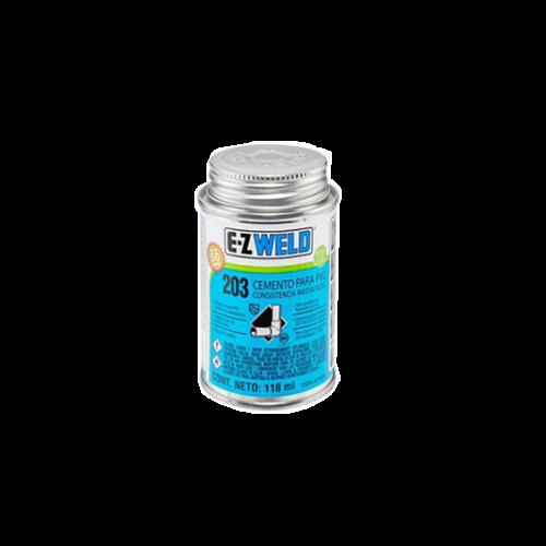 Lata de goma azul de PVC 1/4 pinta