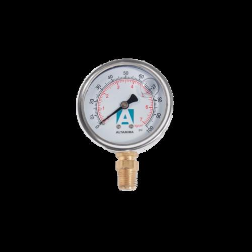 Manómetro con Glicerina de 0 - 100 PSI