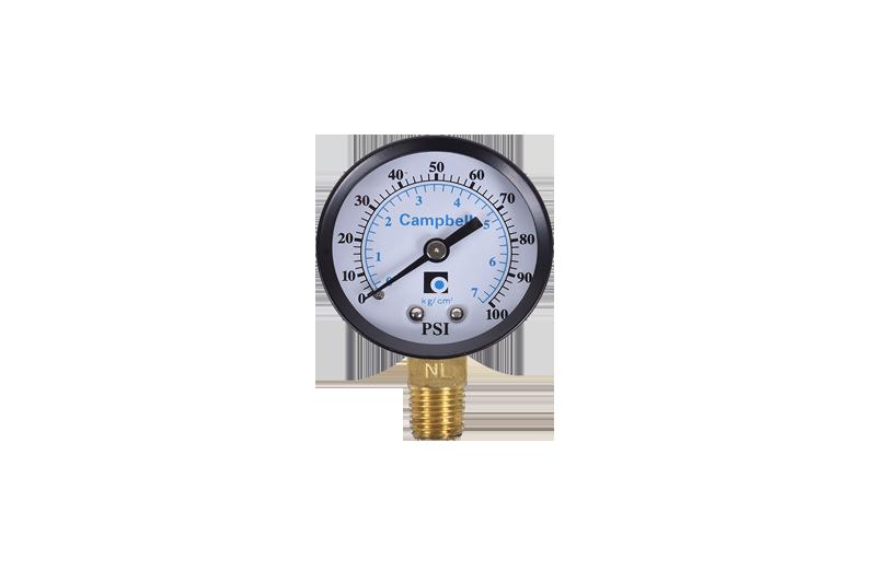 Manómetro seco de 0 - 100 PSI Campbell