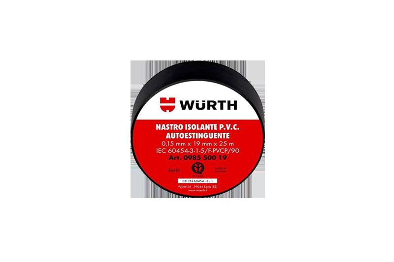 Tape Negro aislante eléctrico Wurth